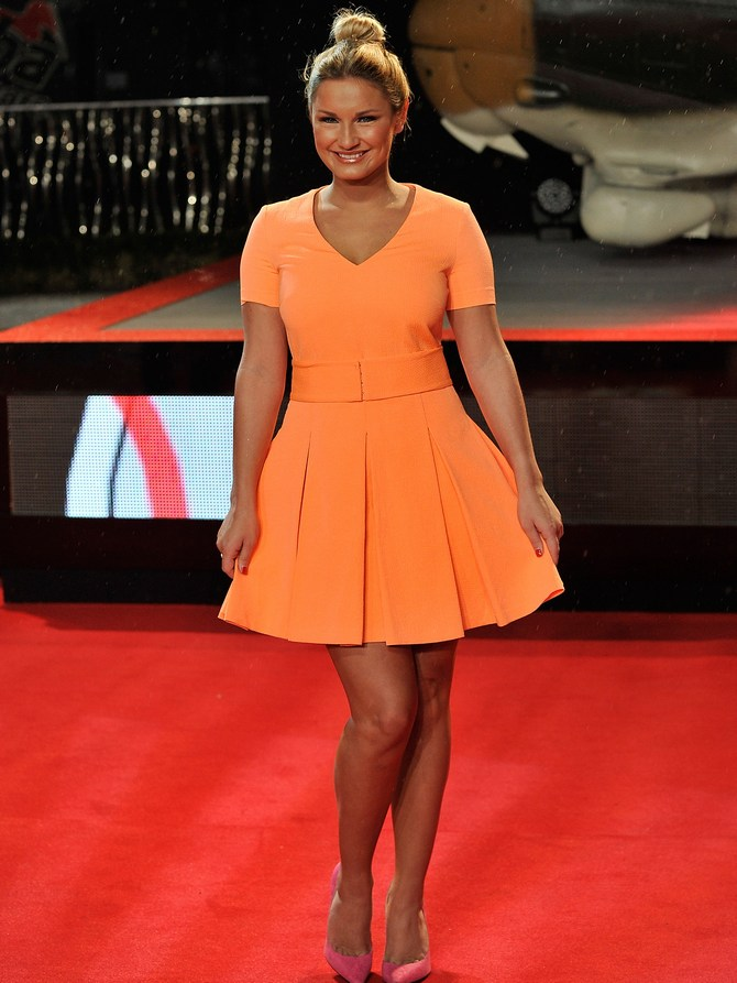 Sam Faiers attends the UK Premiere of A Good Day To Die Hard at Empire Leicester Square in London