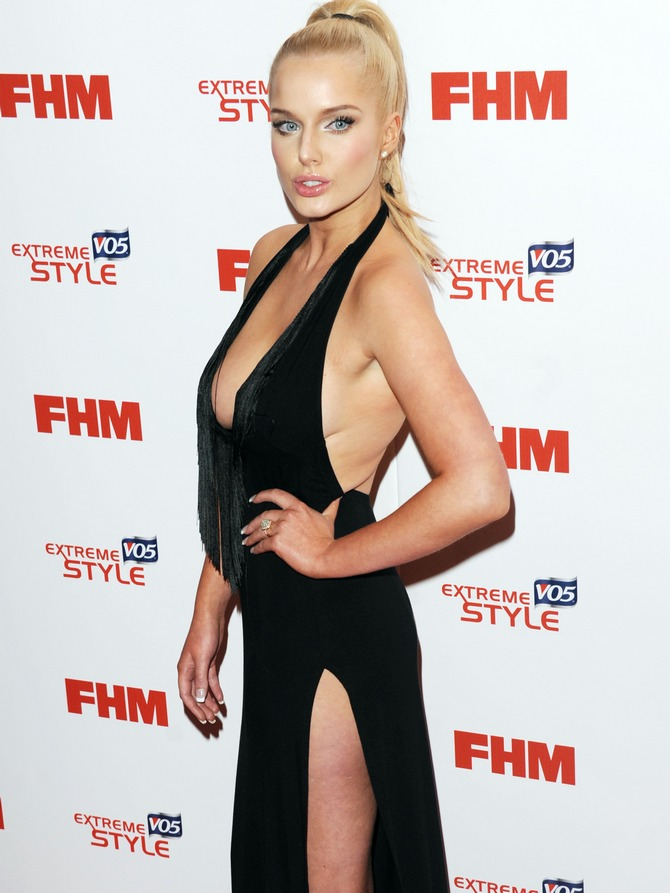 Helen Flanagan attends the FHM 100 Sexiest Women In The World launch party in London