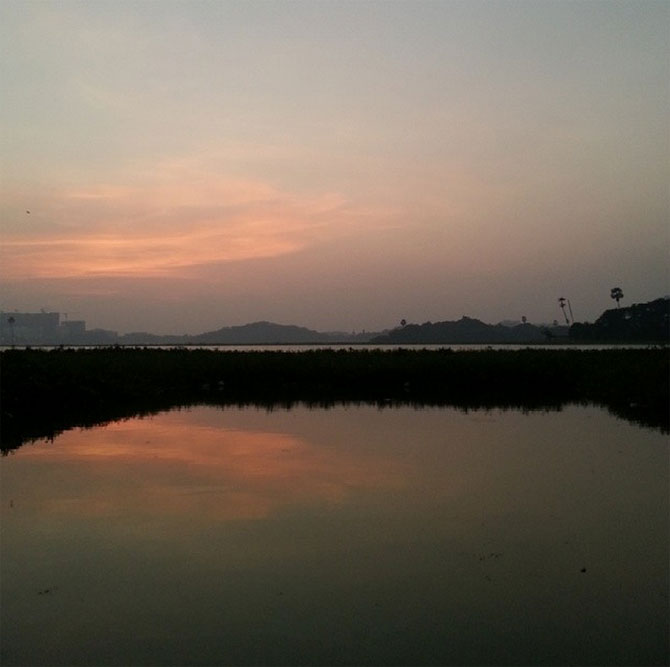 Lake at the IIT-B campus