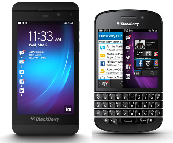 Look: The BlackBerry 10 smartphones