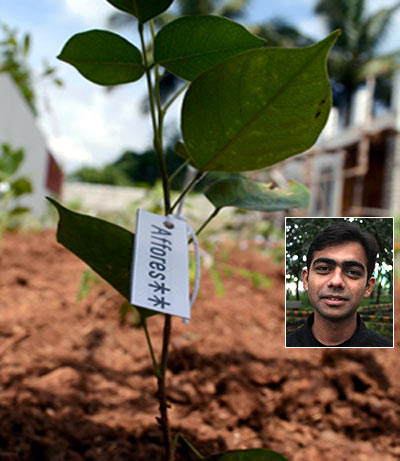 Shubhendu Sharma (inset) is the founder of Afforestt