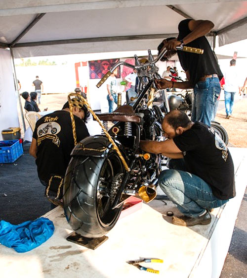 Bikers busy at the build-off