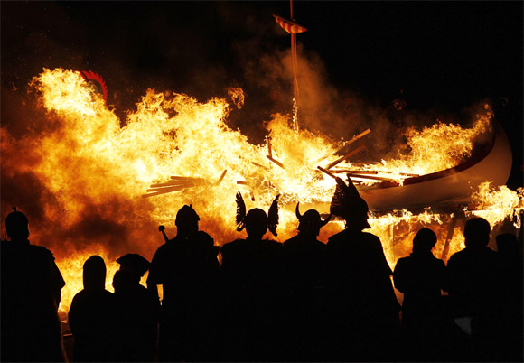 The Up Helly Aa festival, introduced by men returning from the Napoleonic Wars of the early 19th century, takes place annually on the last Tuesday of January.