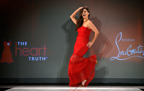 RED HOT: Celebs walk the ramp for a cause