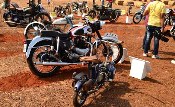 Vintage bikes on display at IBW