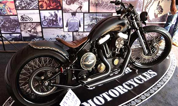 A vintage bike on display at IBW