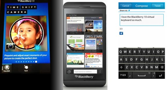 New features of the new BlackBerry OS 10