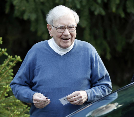 Berkshire Hathaway CEO Warren Buffett attends the Allen & Co Media Conference in Sun Valley, Idaho