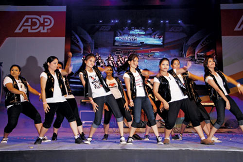 ADP associates perform on company day