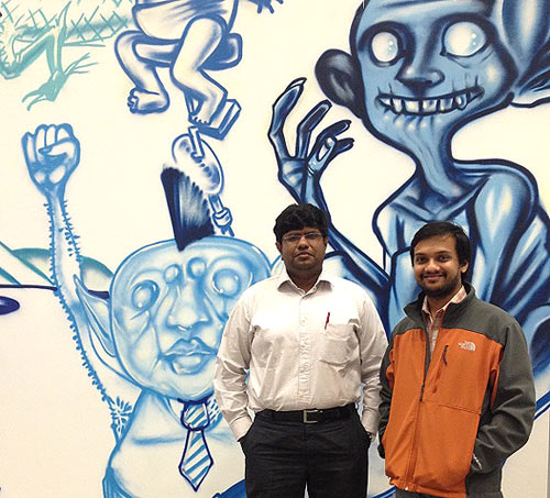 Sriram Iyer (L) along with his friend Venkat Venkatramani