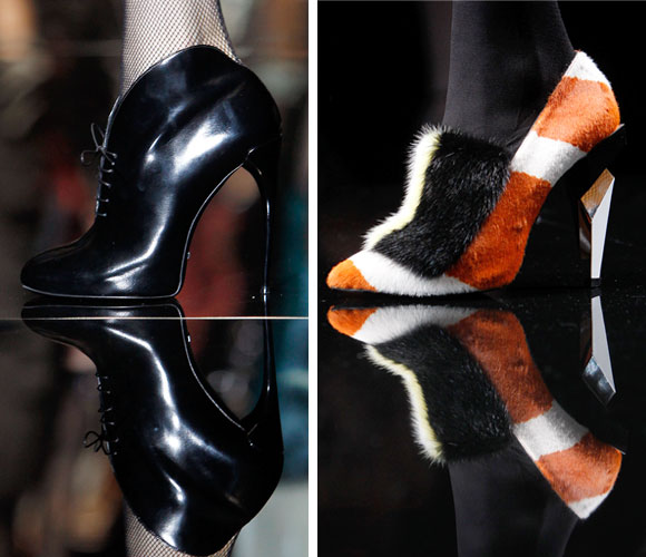Footwear from the Gucci and Fendi Autumn/Winter 2013 collection at Milan Fashion Week.
