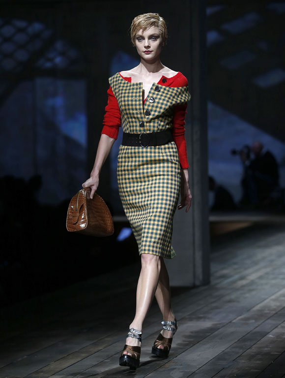 Prada sizzles up staid office wear.