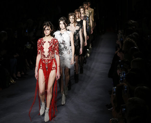 Designer Julien Macdonald opted for sexy silhouettes.