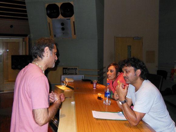 Rudy Wallang, Tipriti 'Tips' Kharbangar and Shantanu Hudlikar, chief sound engineer at YashRaj Film Studios