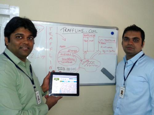 From left: Ravi Khemani and Brijraj Vaghani, co-founders Traffline.com