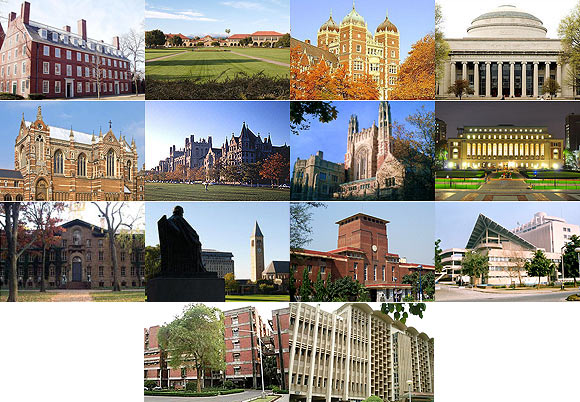 World's top 100 universities for the year 2013
