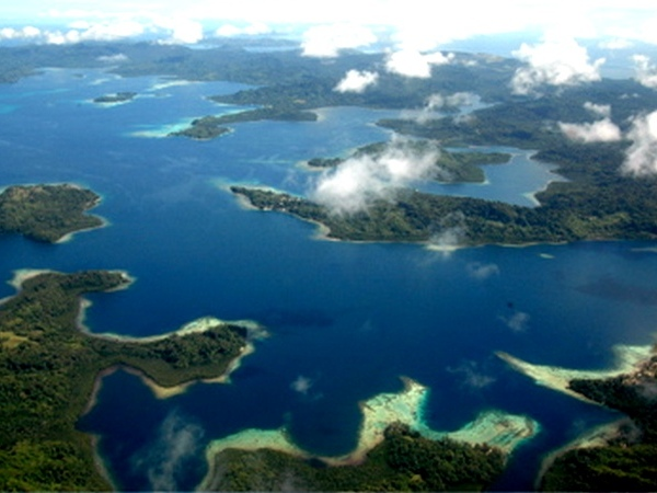 Aerial view of Solomon Islands