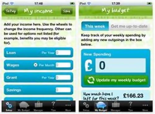 The Budget Planner app will help you keep a tab on your spendings