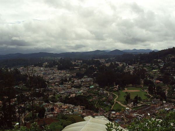 A panaromic view of Ooty