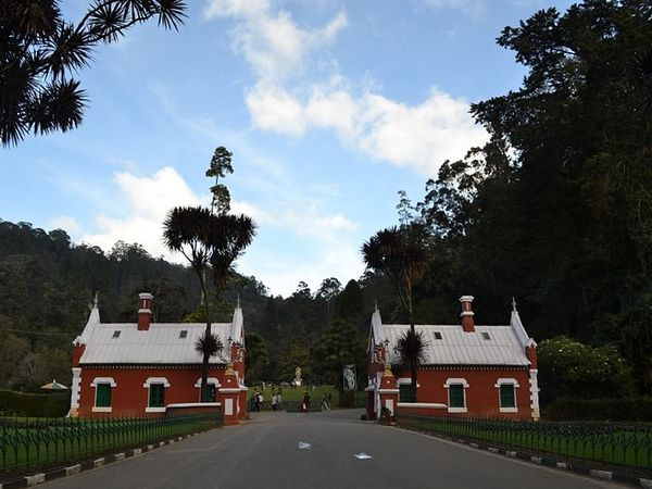 Entrance to the Botanical Gardens of Ooty