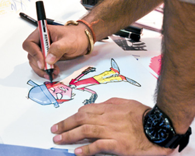 A cartoonist brings comic, critical essence to caricatures