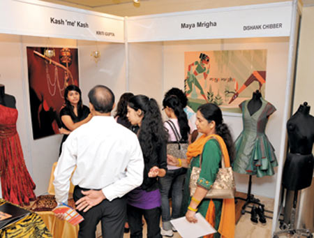 Students attend a design event at Institute of Apparel Management, Gurgaon