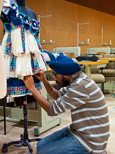 A student at IAM designs a garment