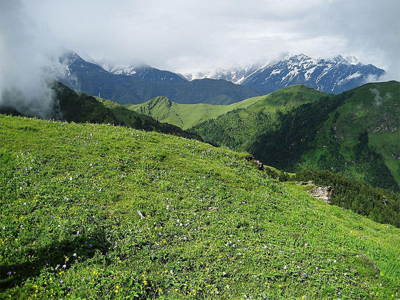 Ali Bugyal, a meadow in Uttarakhand