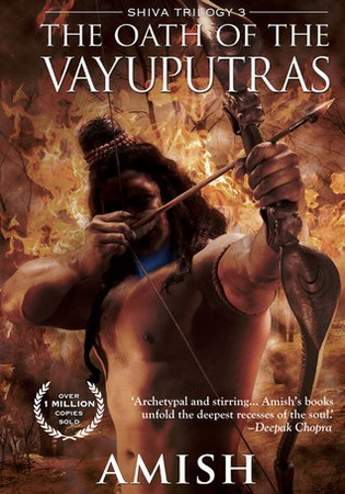 Cover of Amish's forthcoming book: Oath of the Vayuputras