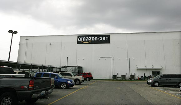 Amazon's warehouse in Campbellsville, Kentucky