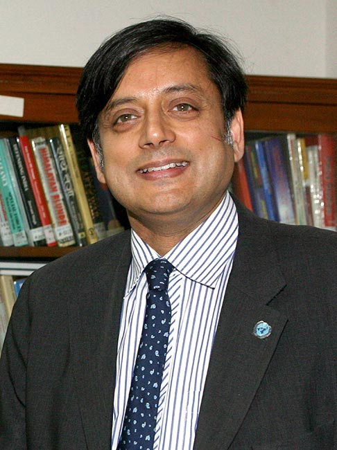 Minister of state for HRD Shashi Tharoor in a file photo