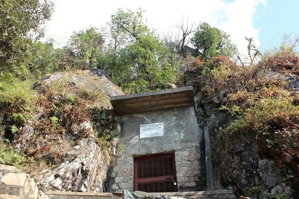 Mahavatar Babaji's cave. I spent an hour in the cave, a memorable experience. To see more pictures of Babaji's cave