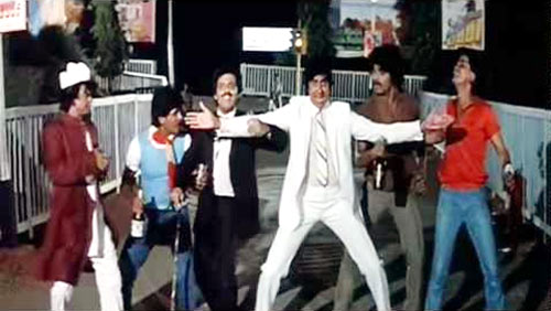 Amitabh Bachchan in a video grab of Sharabi