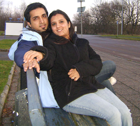 Anil Gupta with his wife Pooja Gupta