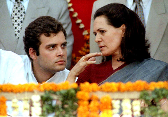 Rahul Gandhi, who has recently been anointed vice-president of the Congress party, seen with his mother, Sonia.