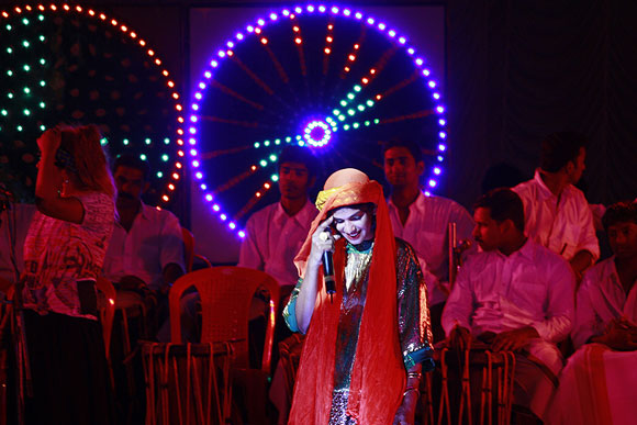 British singer, musician and visual artist Mathangi Maya Arulpragasam aka M.I.A opened the Kochi-Muziris Biennale 2012 with a concert .This was her first gig in India.