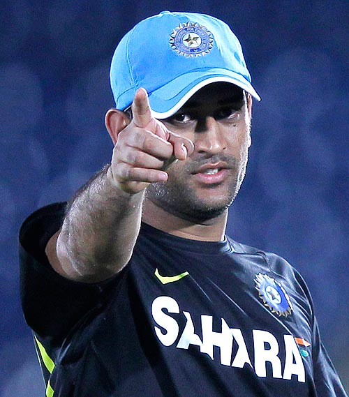A day when you get to point fingers, much like MS Dhoni here.