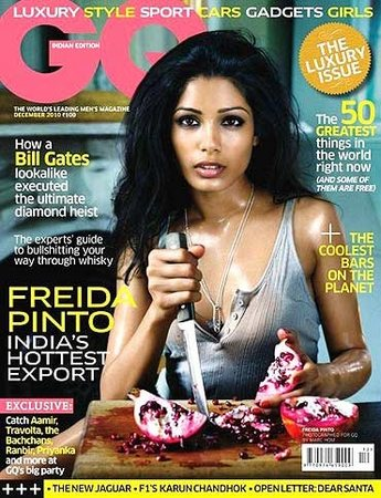 Freida Pinto on the cover of GQ
