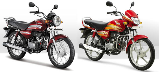 Hero MotoCorp HF Dawn and Hero MotoCorp HF Deluxe