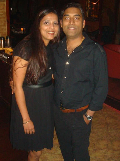 Joel Saldanha (right) with his wife Diana