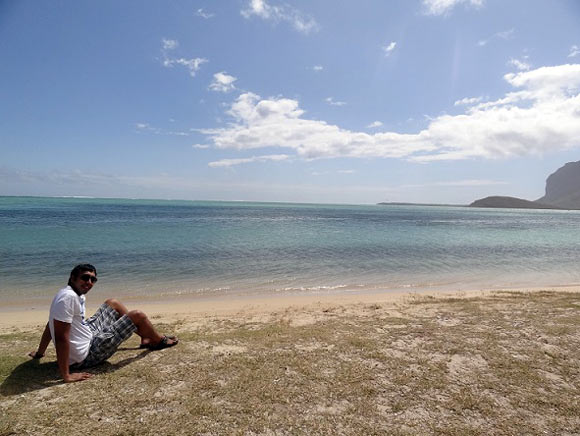 Co-founder Siddharth at a secluded beachside