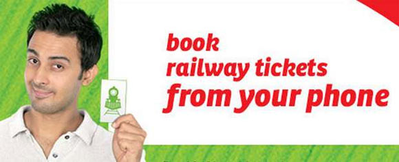 Book your train ticket through a mobile phone