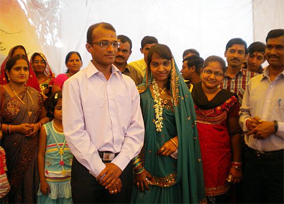 Satyendra Vijay Thakur with his bride