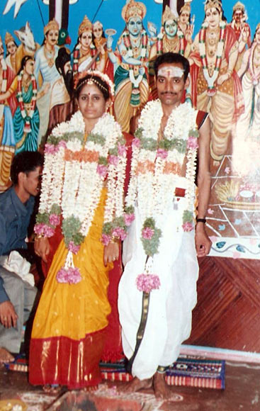 Rama Narayanan and his wife Shyamala