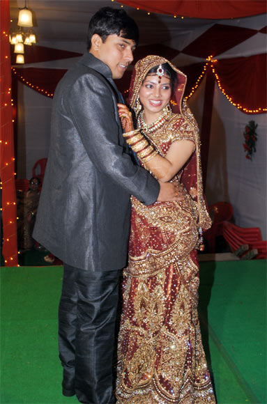 Puja Kumari with her husband