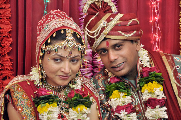 Rakhee Thakkar with her husband