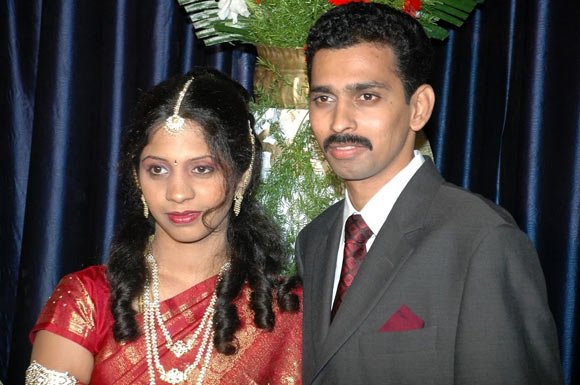 Raghuvir Jain with his wife Nandini