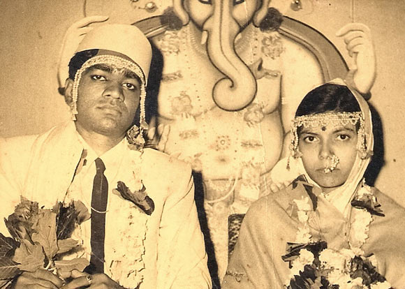 Shankar Shrirao with his wife