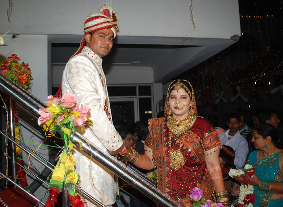 Anu Singh from Delhi with her husband Arun Kumar Singh