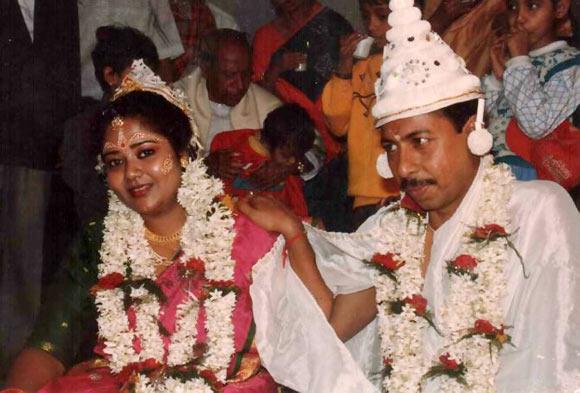 Basudha Mitra and her husband Ashis Mitra